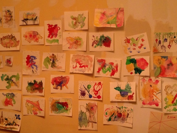 art project wall