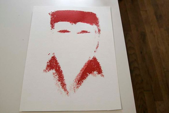 first attempt at elvis screen printing