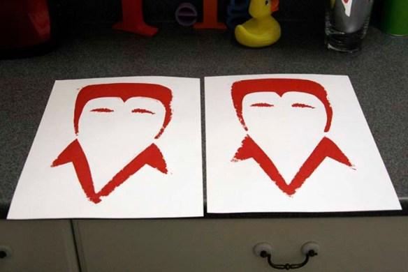 elvis prints in red