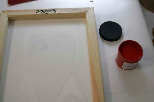 screen printing red ink
