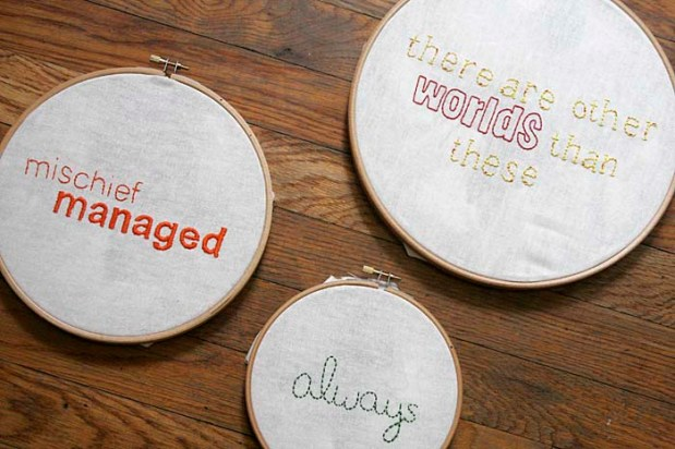 favorite quote embroidery