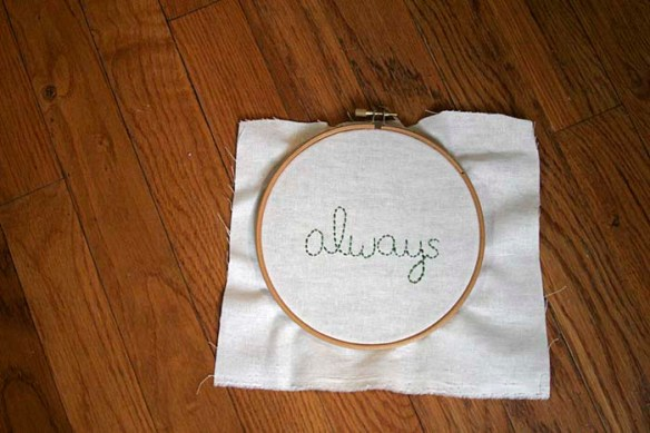 always embroidery