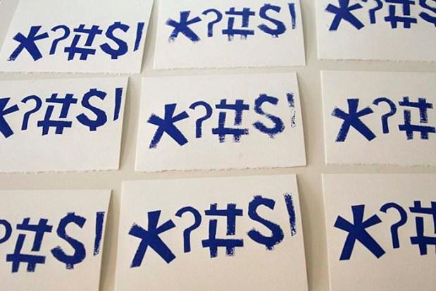 screen prints drying