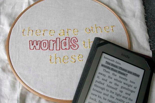 gunslinger embroidery with kindle
