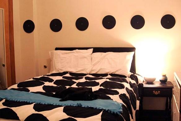 bedroom polka dots