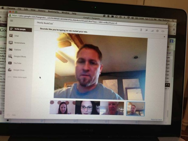 family book club video chat