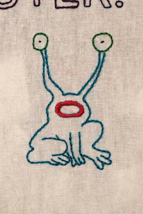 monster embroidery