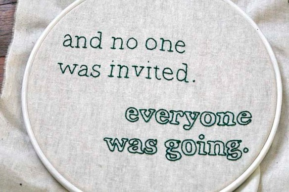 no one was invited embroidery rae's days