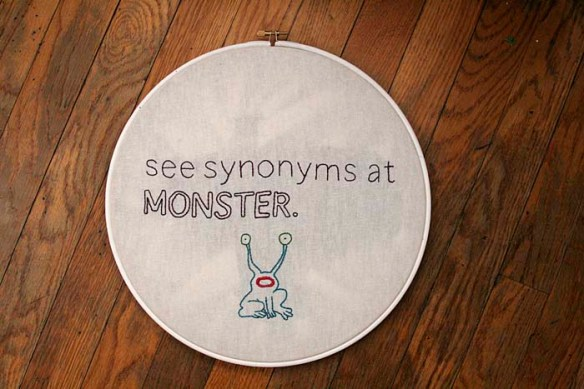 synonyms embroidery