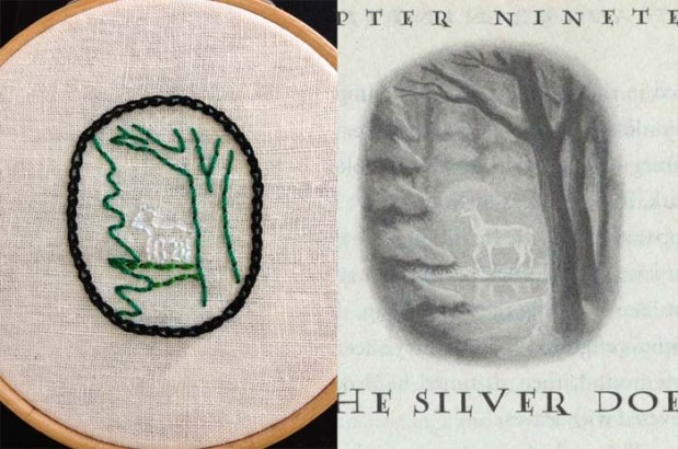 embroidery and book illustration