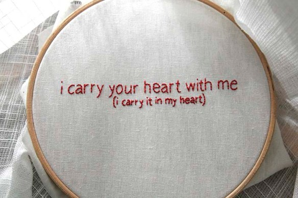 i carry your heart embroidery