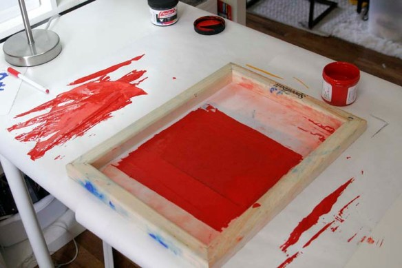 working screen printing