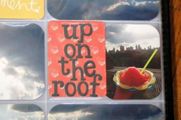 up on the roof project life card