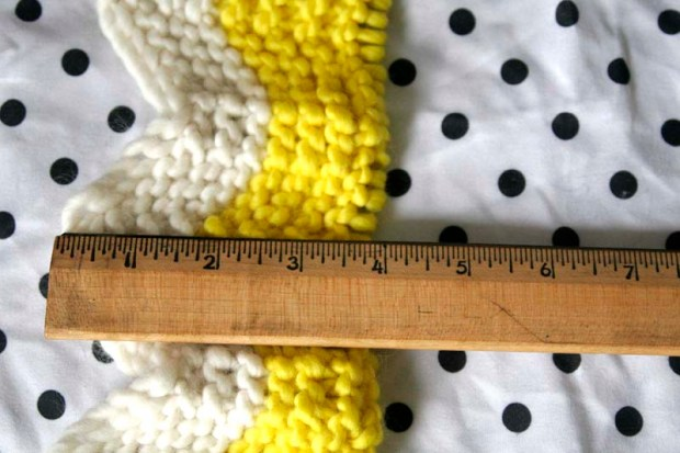 baby blanket knitting inches
