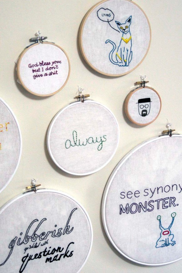 display embroidery hoops