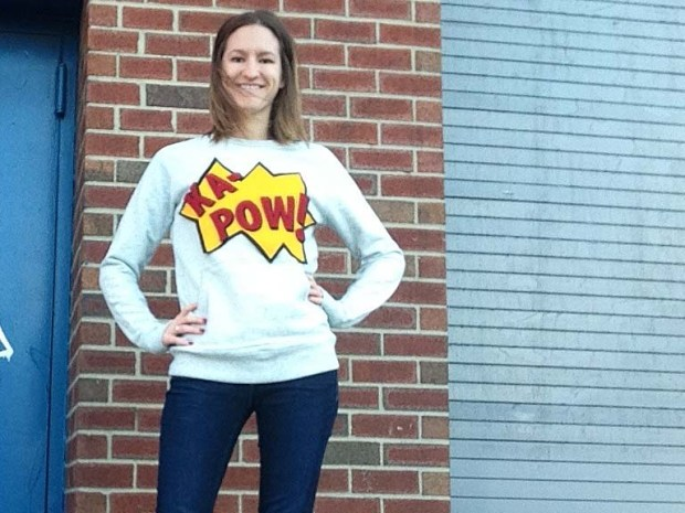 rae's days comic book sweatshirt
