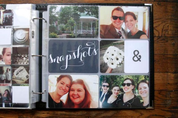 wedding project life pages