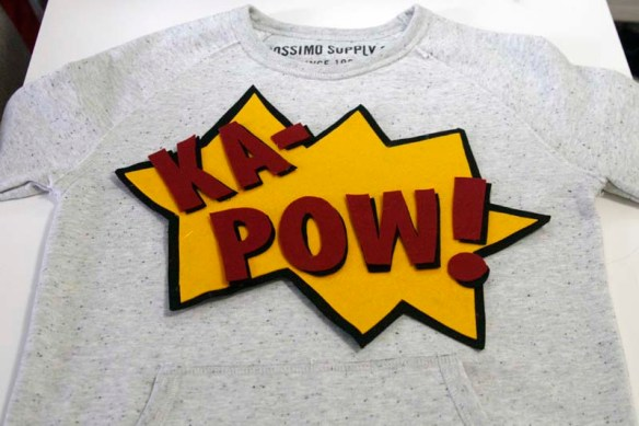 ka pow comic book inspired sweatshirt