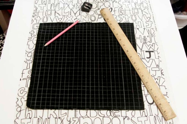 cross stitch pillow tutorial grid