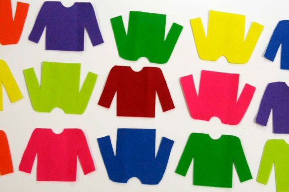 cut out sweaters for ugly sweater ornaments