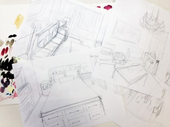 interior design sketches