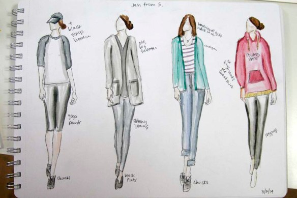 outfits of jen heyward from s.