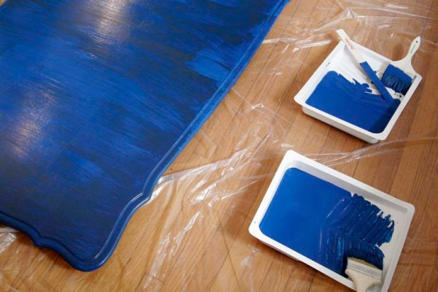 painting the kitchen table