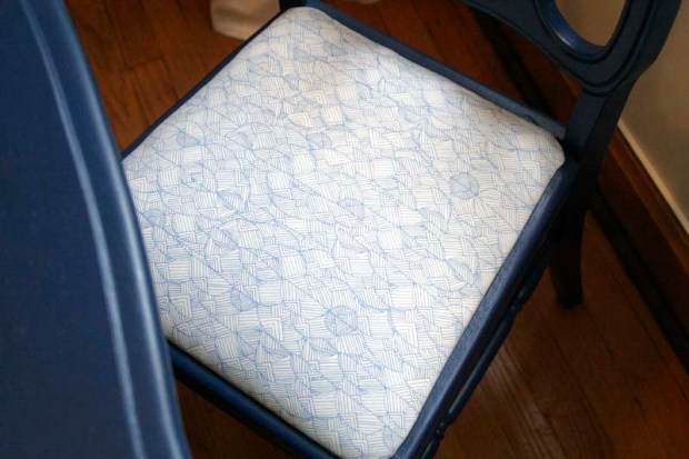 recovered seat cushion