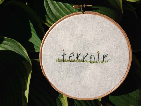 embroidery from jeff vandermeer's authority