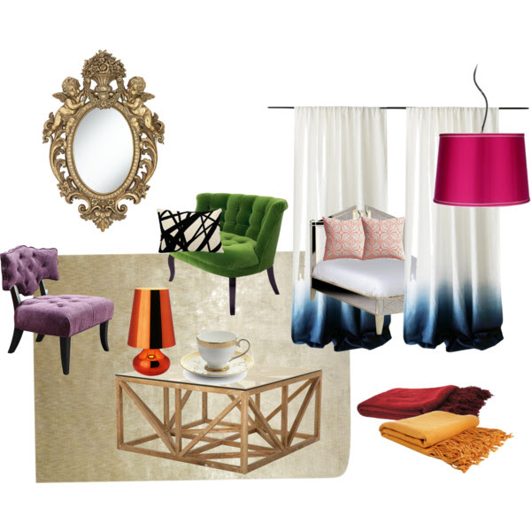 silk room decorating inspiration from polyvore