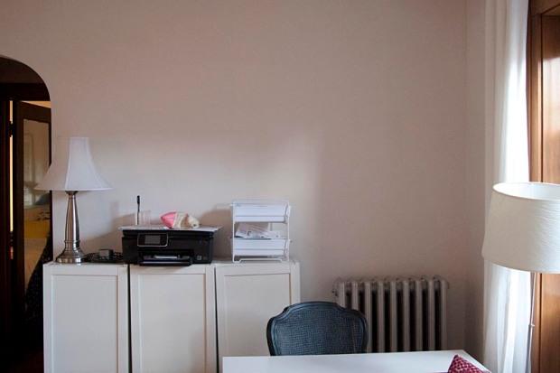 desk area: before